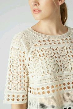 Discover the latest in women's fashion and new season trends at Topshop. Thread Crochet, Filet Crochet, Crochet Lace, Crochet Beach Bags, Crochet Summer Tops, Vintage Crochet Patterns, Crochet Designs, Crochet Dreamcatcher, Topshop