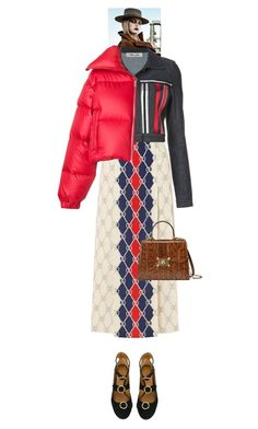 """""""Lilika #9469"""" by canlui ❤ liked on Polyvore featuring Gucci, Diane Von Furstenberg, MISBHV, Chloé, jacket, coat and coats"""