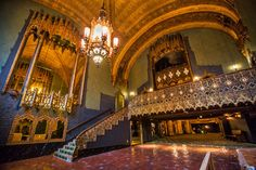 Inside the New Ace Hotel's Dazzling Old United Artists Theatre (1927) in Los Angeles-Architect C. Howard Crane and commissioned by United Artists, the film industry powerhouse founded by Mary Pickford, Douglas Fairbanks, Charlie Chaplin, and DW Griffith.Now part of the newly-opened Hotel-DG