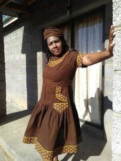 50 + pictures for African Sotho Shweshwe Dresses. 50 + pictures for African Sotho Shweshwe Dresses 2017 and Long African Dresses, African Fashion Dresses, African Clothes, African Attire, African Wear, African Style, African Beauty, Modern Outfits, Stylish Dresses