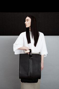Jessica Hearnshaw: Bag Design  Art Director: Benjamin Thapa, Photographer: Giulia Zucchetti, Model: Max @ Profile, Stylist: Irene Manicone, Makeup: Nichola Mai