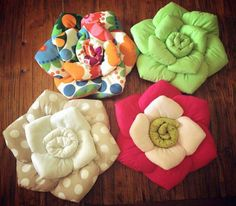 textile flowers - DIY Creative