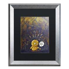 "Trademark Art 'Hello Friend' by Craig Snodgrass Framed Painting Print Matte Color: Black, Size: 20"" H x 16"" W x 0.5"" D"