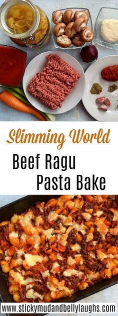 Slimming World Beef Ragu Pasta Bake -You can find Slimming world recipes and more on our website.Slimming World Beef Ragu Pasta Bake - Slimming World Pasta Bake, Slimming World Dinners, Slimming World Chicken Recipes, Slimming World Recipes Syn Free, Slimming Eats, Campfire Stew Slimming World, Slimming World Plan, Slimming World Stew, Slimming World Lunch Ideas