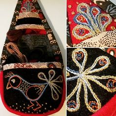 marsma Needle Case, Needle Book, Needle And Thread, Swedish Embroidery, Wool Embroidery, Sewing Case, Sewing Kit, Textile Design, Textile Art