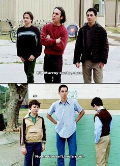 21 Funny TV and Movie Screencaps Freaks And Geeks, Bill Murray, I Laughed, Actors & Actresses, 21st, Geek Stuff, Winter Jackets, Couple Photos, Tv