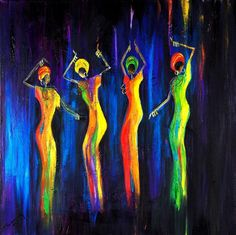 """""""Womens Day Celebration In South Africa"""" Painting by Marietjie Henning. http://fineartamerica.com/profiles/marietjie-henning.html"""
