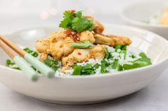 Chili-citroengraskip met pandanrijst & peultjes - NINALOVESFOOD Chili, Green Beans, Meat, Chicken, Dinner, Vegetables, Main Courses, Food, Dining