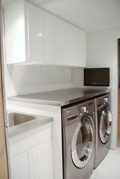 Stainless steel laundry countertop   Rambling Renovators: How To Support A Countertop