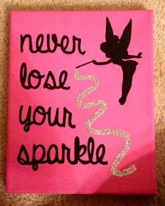 Sorority crafts- Disney tinkerbell canvas