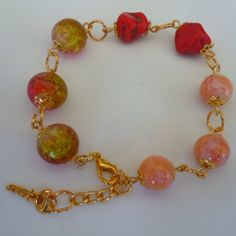 pulseira colorida feita com contas de vidros R$ 3,50