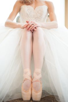 Ballet Inspired Wedding Ideas -- See more on #smp here: http://www.StyleMePretty.com/2014/05/15/richmond-ballet-wedding-inspiration/ Photography: JessicaMaida.com
