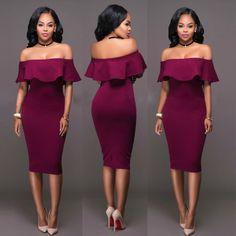 US Women Off Shoulder Lace Sleeveless Midi Pencil Dresses Bodycon Sweater Dress