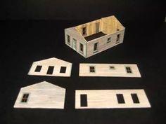 Construccion de un Barracon Minero con Porche - Scratchbuilding