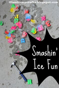 Glued to my Crafts: Smashin' Ice Fun-Muffin Cup Ice Cubes