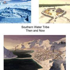 ATLA/The Legend of Korra: southern water tribe then and now Korra Avatar, Team Avatar, Avatar World, Water Tribe, Iroh, Fire Nation, Fandoms, Zuko, Legend Of Korra