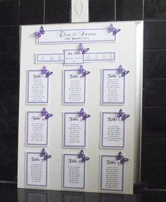 Personalised wedding seating plan