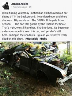 This mad me so sad. Poor baby. I should not be this sad about what used to be a car...... but I really am