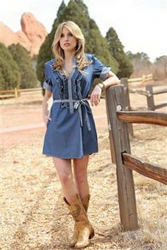 Cotton Chambray Dress #country #dress
