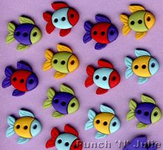 SEW CUTE FISH - Tropical Sea Sealife Novelty Dress It Up Sewing Craft Buttons
