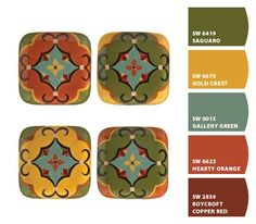 tuscan colors from Chip It! by Sherwin-Williams