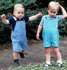 royalroaster:  Prince George, 2014; Prince William, 1984