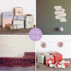 Pretty vintage inspired wrapping paper