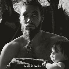 "Pin for Later: 37 Times Jason Momoa Was So Hot, We Almost Called the Fire Department That time when he held a baby and called Daenerys ""moon of my life."" COME ON."
