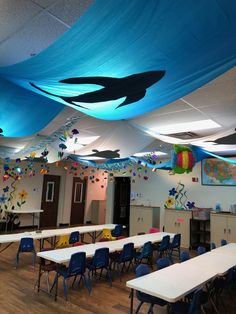 Reggio Emilia, Class Decoration, School Decorations, Pre School, Sunday School, Kindergarten, Under The Sea Theme, Dramatic Play, Sensory Play