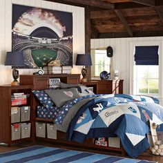 tween+boys+bedrooms | Teenage Boys Bedroom Furniture Set with Storage Shelves - Best Bedroom ...