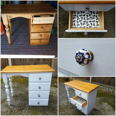 Upcycled pine dressing table using chalk paint