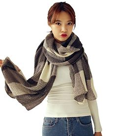 Sexybody Womens Cashmere Feel Winter Scarf Wrap Shawl in Rich Plaids 06 * Learn more by visiting the image link.