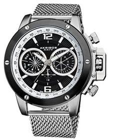 入手困難!!Akribos XXIV(アクリボス)★AK515SSB  商品名:Akribos XXIV Men's Conqueror Swiss Multifunction Silver-tone Stainless Steel Mesh Bracelet Watch   人気ブランドAkribos XXIV(アクリボス)の腕時計です。 長く愛用出来る一品です♪Akribos XXIV(アクリボス)好きの方にオススメ!  自分用やプレゼントにもピッタリです♪ 数量限定価格なのでお早めにご検討ください♪