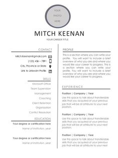 7 resume design concepts which get you hired - Resume Tips Like You, You Got This, Design Resume, One Page Resume, Any Job, Resume Tips, Resume Templates, Minimalist Design, Concept