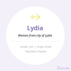Baby Name Generator - Baby Name: Lydia - Best Girl Names, List Of Girls Names, Pretty Girls Names, Girl Names With Meaning, First Names, Lydia Name, Writing Tips, Writing Prompts, Rare Names