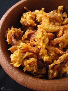 Cibulove Bhaji Onion Rings, Indie, Food And Drink, Vegetarian, Tasty, Snacks, Dishes, Cooking, Ethnic Recipes
