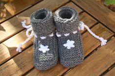 Strick- & Häkelschuhe - Sternchen ! kuschelweiche Babyschuhe mit Stern - ein…