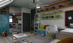 Pokój chłopca - Pokój dziecka - Styl Nowoczesny - Space Project Erazmus