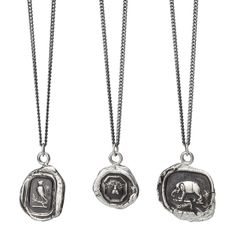 "ANIMAL TALISMAN NECKLACES  Every representative talisman has a personal symbolic meaning:  Owl:  The owl represents knowledge and wisdom. Owls were believed to have the ability to see what is hidden.  Bee:  ""A Mon Ami"" is French for ""To My Friend"". The bee represents an individual who is steadfast and loyal.  Elephant:  The elephant is symbolic of good luck and wisdom."