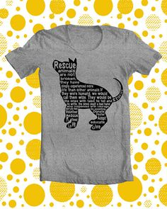 Rescue Dog T Shirt Original Unique Screen Printed Short Sleeve Unisex X- LARGE No Broken Dogs in SPORT GRAY