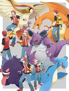 😇Sorry for the long wait😇 . 🍀DM me if you have any idea about future content🍀 . Pokemon Poster, Pokemon Team, Pokemon Trainer Red, Pokemon Pins, Pokemon Comics, Cool Pokemon, Pokemon Fusion, Pokemon Cards, Coaches