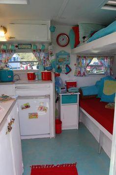 cute colourful caravan