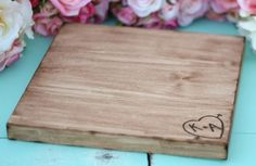 Personalized Cake Stand maybe use as a cutting board afterwards