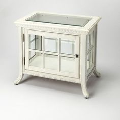 Butler Chopin Chair Side Curio Cabinet Finish: Cottage White