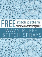 Free Crochet Stitch Patterns which include Rickrack, Wavy-Puff, Little Buds, Raised Chevron, Popcorn Rows, Feathers, Asymmetrical, Lobster Claw, Window Boxes, Shells