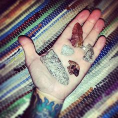 East Texas petrified wood tools and points.