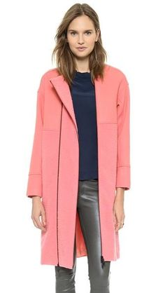 Opening Ceremony Bram Wool Double Zip Coat - Petal Pink $695.00 - Buy it here: https://www.lookmazing.com/opening-ceremony-bram-wool-double-zip-coat-petal-pink/products/8237238?e=1&shrid=431_pin
