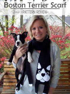 Boston Terrier Scarf - Pattern Review - Stitch11