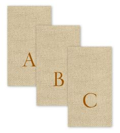 Personalized Caspari Paper Hand Towels With Monogram Pictures