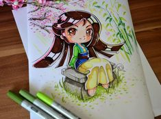 This time Mulan joins our Disney collection. I've watched it only recently and wow, still love it as much as when I watched it for the first time Chibi Mulan Disney Princess Drawings, Disney Sketches, Disney Drawings, Cute Drawings, Disney Princesses, Chibi Disney, Disney And Dreamworks, Disney Pixar, Arte Disney